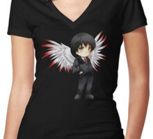 Anime Chibi 6. Women's Fitted V-Neck T-Shirt