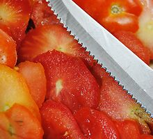 Sliced Tomato Ends by Jonice