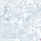 'Fashion Express ~ The Blueprints' Pieces Art™ by Kayla Napua Kong