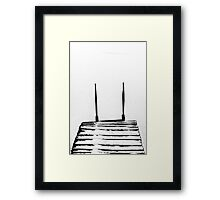 footbridge in frozen lake #5 Framed Print