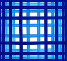 bath towel, quadrate, blue to white by novopics