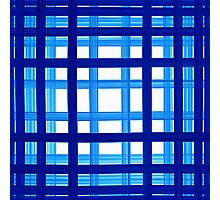 bath towel, quadrate, blue to white Photographic Print