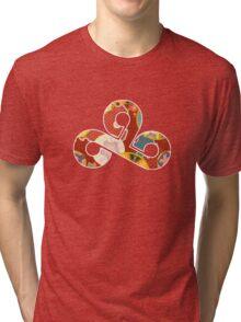 Origami Cloud 9 / Paper Crane Tri-blend T-Shirt