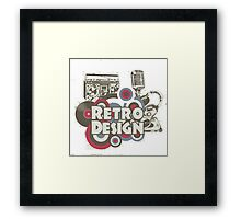 The retro design Framed Print