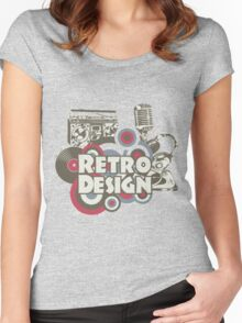 The retro design Women's Fitted Scoop T-Shirt