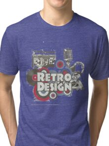 The retro design Tri-blend T-Shirt