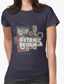 The retro design Womens Fitted T-Shirt
