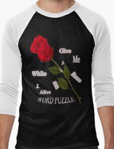 Word Puzzle - Rose Men's Baseball ¾ T-Shirt