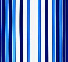 bath towel, straps, blue to white by novopics