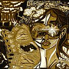 'Behind Me Destruction, Before Me Building--Reflections of My Future ~ Sepia' Pieces Art™ by Kayla Napua Kong