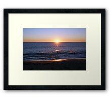 ORANGE AURA Framed Print