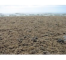 Bubbly Beach Sand Photographic Print