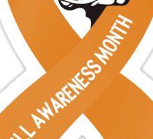 Pit Bull Awareness Ribbon Sticker