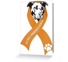 Pit Bull Awareness Ribbon Greeting Card