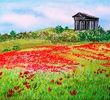 Penshaw Poppies - Take Two by Corrina Holyoake