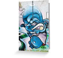 Blue, Bold and Angry Greeting Card