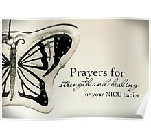 Prayers for NICU Babies Poster