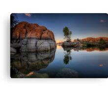 Rock Meets Tree Canvas Print