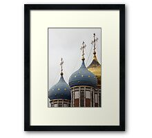 gold stars on the church dome Framed Print