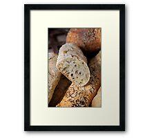 Sunflower & Pumpkin Seed Bread Framed Print