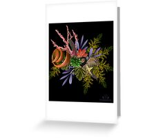 "Seaside Bouquet -  Translating ""Otherworld Botany"" by Diane Johnson-Mosley Greeting Card"