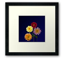 Dahlias Four Framed Print