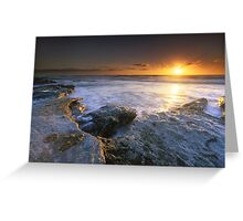 """The Golden Hour"" ∞ Caloundra, QLD - Australia Greeting Card"