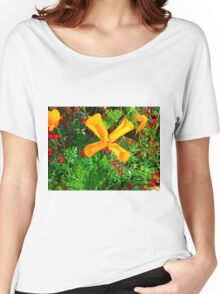 Large yellow and orange flowers close up Women's Relaxed Fit T-Shirt