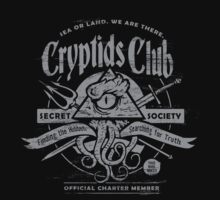 Cryptids Club (Dark Shirt Version) by HeartattackJack