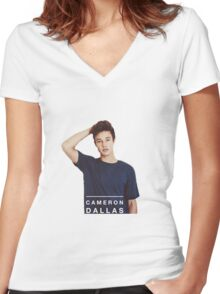 Cameron Dallas Women's Fitted V-Neck T-Shirt