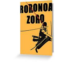 One Piece - Roronoa Zoro  Greeting Card
