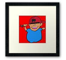 Kid Tagger Framed Print