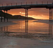 Saltburn pier at Sunset  by neil sturgeon
