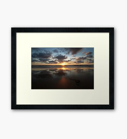 Sunset and Seaweed Framed Print