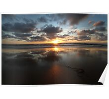 Sunset and Seaweed Poster