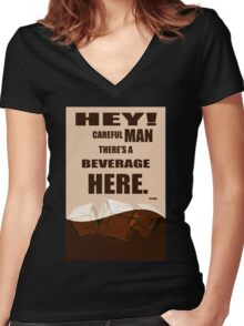 The Big Lebowski movie quote Women's Fitted V-Neck T-Shirt