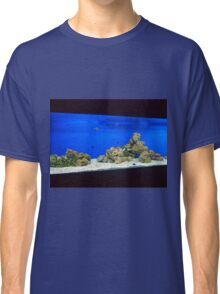 Large and long aquarium with sea water blue Classic T-Shirt