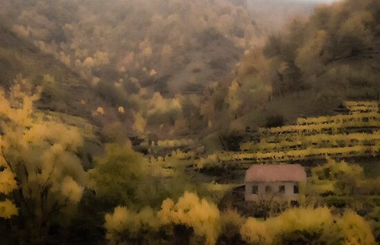 Painting The Danube Valley by Jenn Louise