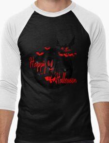 happy halloween horror fantasy vector art Men's Baseball ¾ T-Shirt