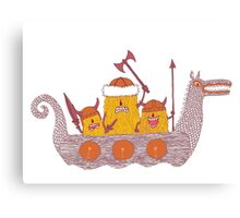 Viking Party Animals in a  Dragon Boat Canvas Print