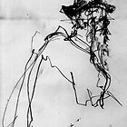 "My Drawings from the Toulouse Lautrec Exhibition: Detail study from ""At the Moulin Rouge"" by Scribure"