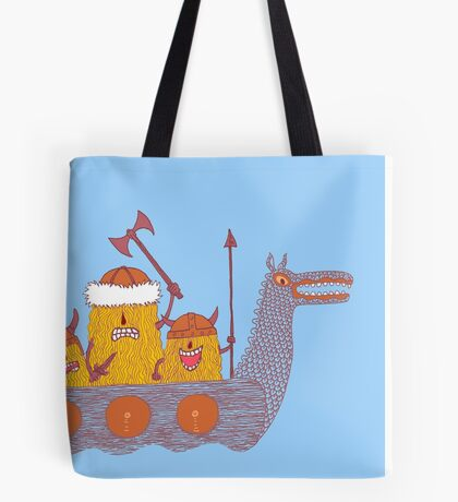 Viking Party Animals in a  Dragon Boat Tote Bag