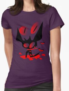 happy halloween horror fantasy vector art Womens Fitted T-Shirt