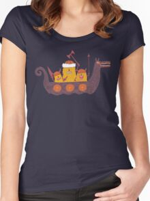 Viking Party Animals in a  Dragon Boat Women's Fitted Scoop T-Shirt