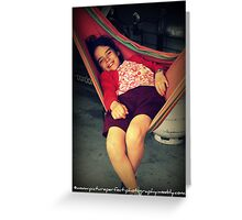"""Relaxation"" Greeting Card"