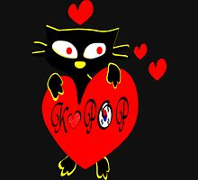 Black kitty love KPOP vector  art T-Shirt