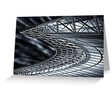 Berlin, Olympic Stadium, roof construction Greeting Card