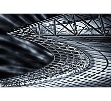 Berlin, Olympic Stadium, roof construction Photographic Print