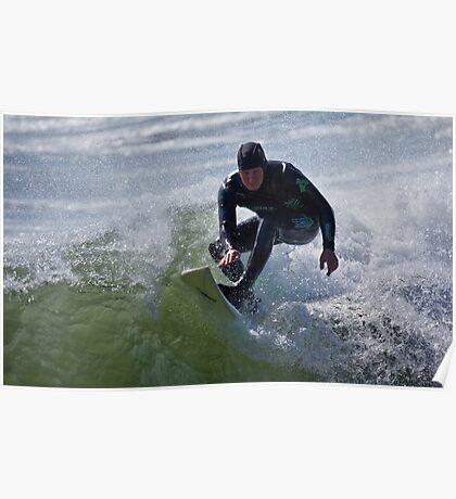 Surfing Marrawah Poster