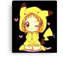 Anime Chibi - Pikachu Canvas Print